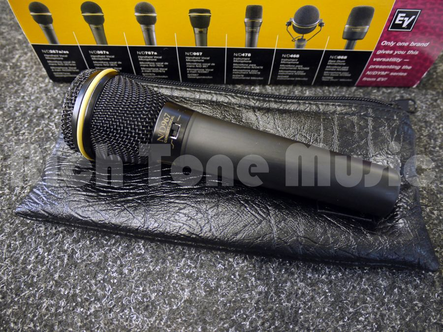ev n d967 premium high spl dynamic vocal mic w box 2nd hand rich tone music. Black Bedroom Furniture Sets. Home Design Ideas