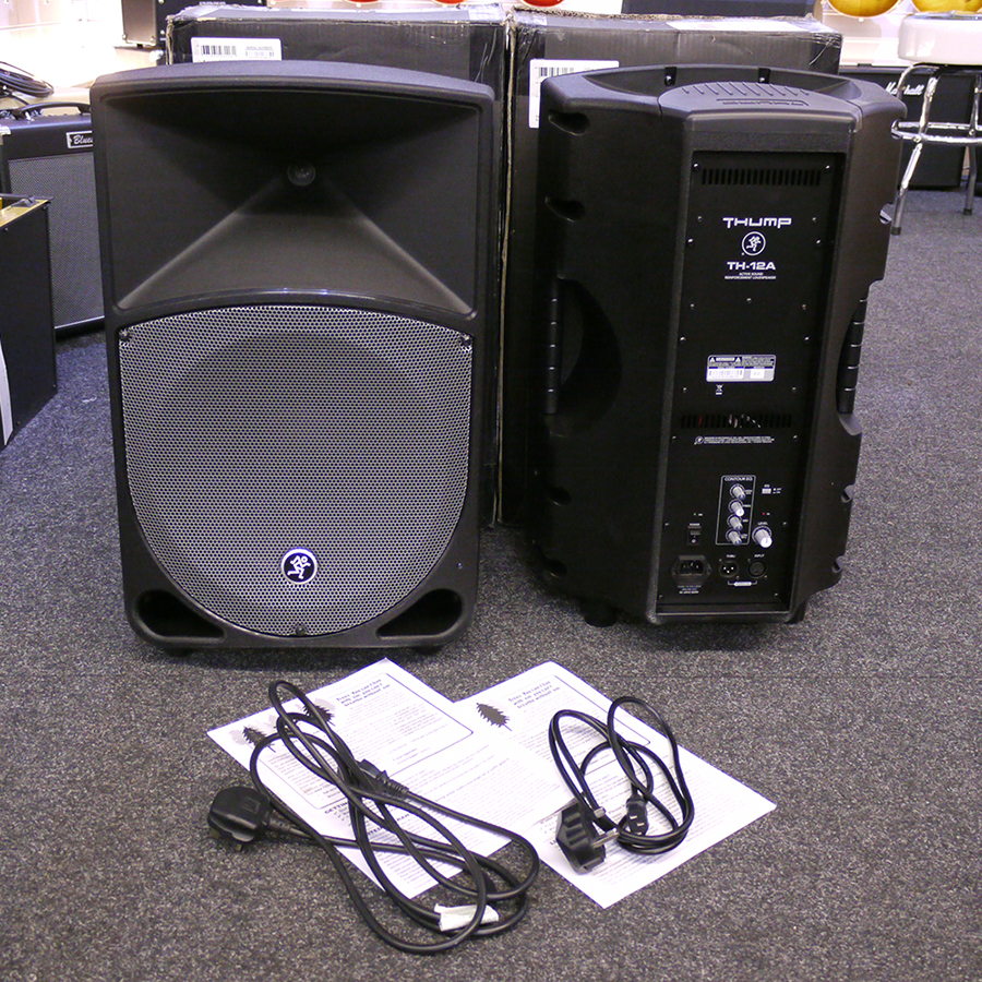 mackie thump th 12a 12 active loudspeakers pair w box 2nd hand rich tone music. Black Bedroom Furniture Sets. Home Design Ideas