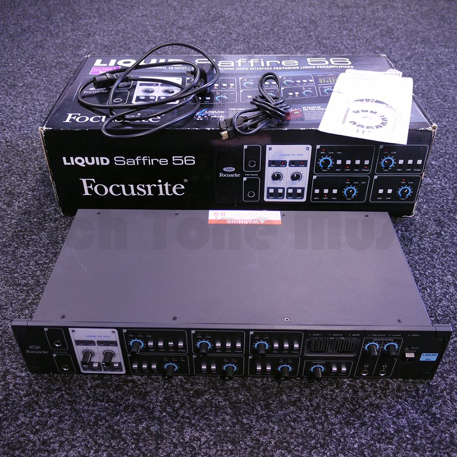 focusrite liquid saffire 56 firewird audio interface w box 2nd hand rich tone music. Black Bedroom Furniture Sets. Home Design Ideas