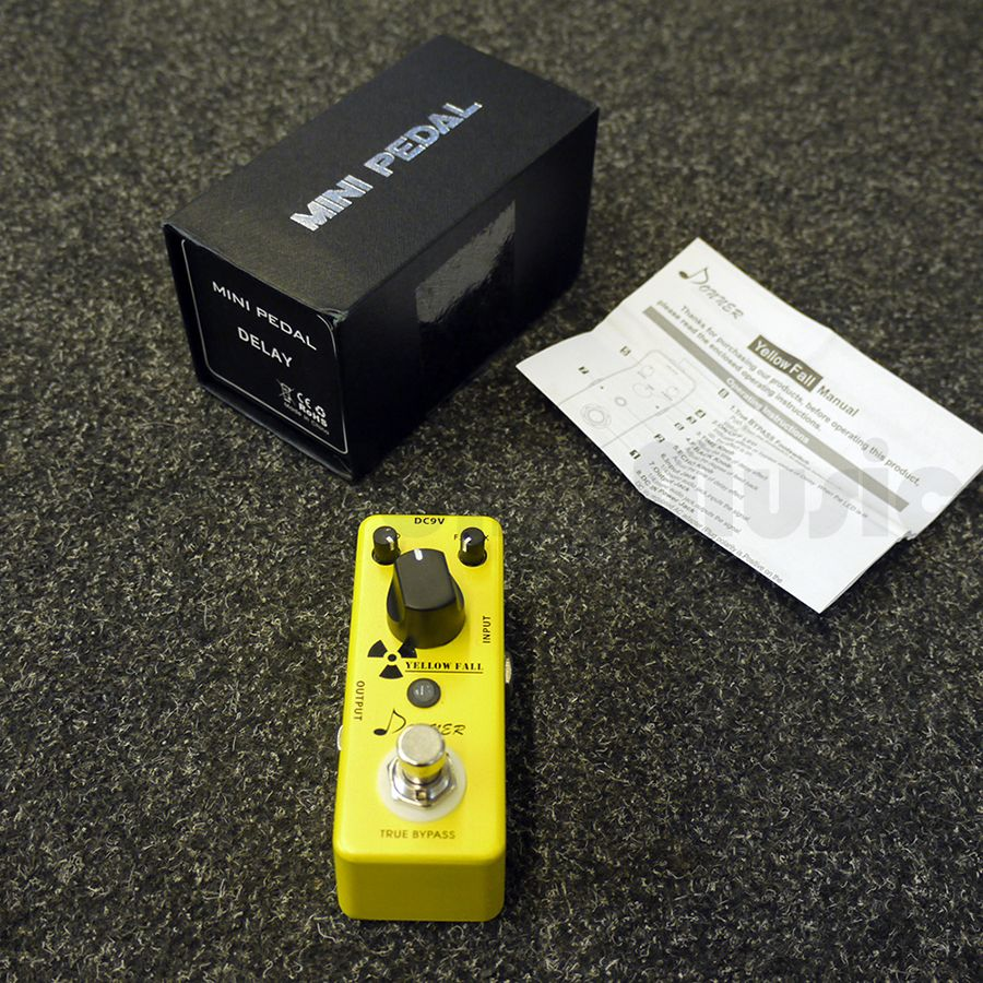 donner yellow fall delay fx pedal w box 2nd hand rich tone music. Black Bedroom Furniture Sets. Home Design Ideas