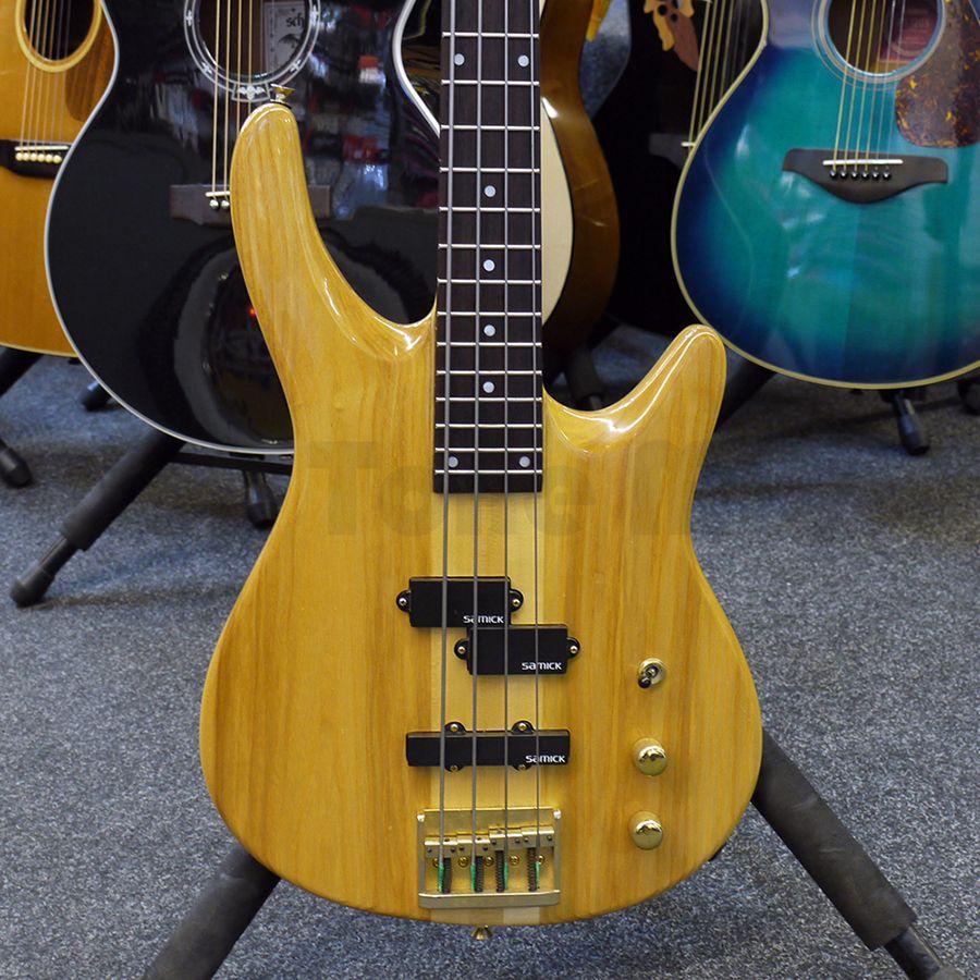 samick bass guitar natural 2nd hand rich tone music. Black Bedroom Furniture Sets. Home Design Ideas