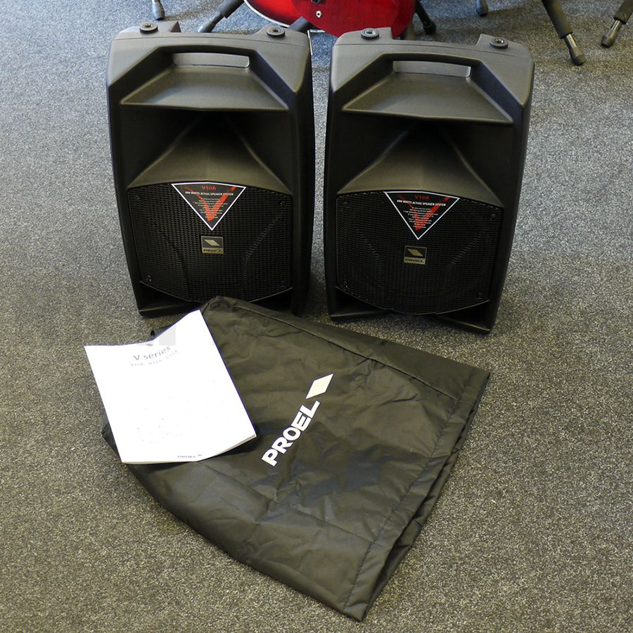Proel V10A 2-Way Loudspeaker System - Pair w/ Covers - 2nd Hand