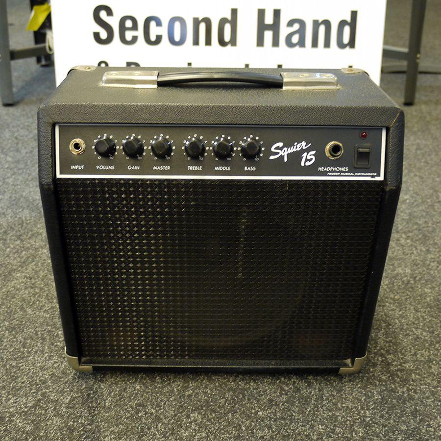 squier 15 practice guitar amplifier 2nd hand rich tone music. Black Bedroom Furniture Sets. Home Design Ideas