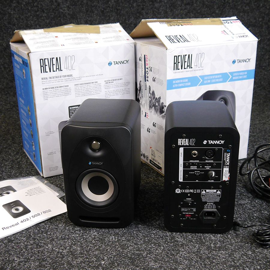 Tannoy Reveal 402 Studio Monitor - Pair w/ Boxes - 2nd Hand