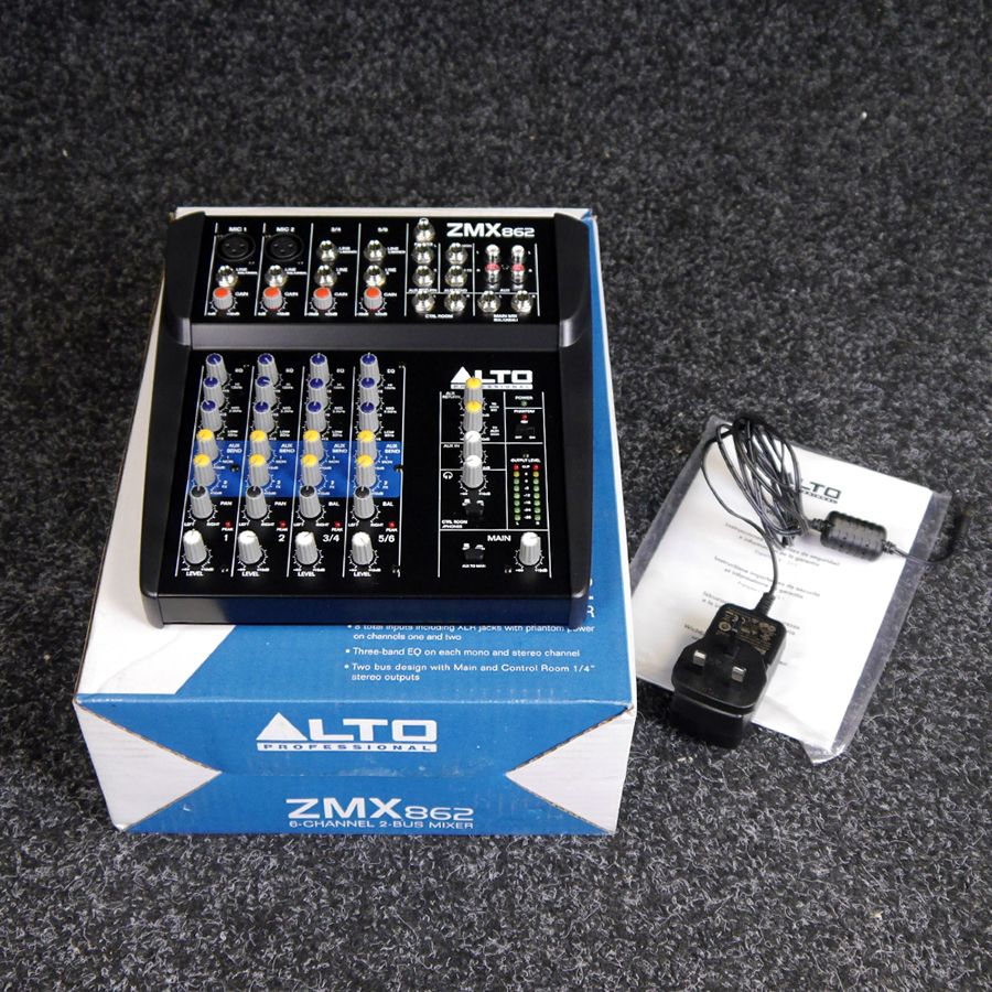 Alto ZMX862 6-Channel Compact Mixer w/ Box - 2nd Hand
