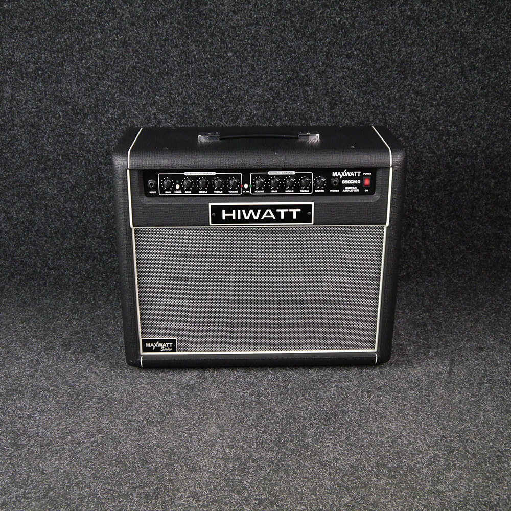 hiwatt maxwatt g50cmr 50w 1x12 combo guitar amp 2nd hand rich tone music. Black Bedroom Furniture Sets. Home Design Ideas