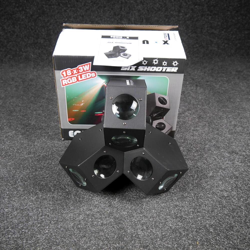 Equinox Six Shooter 18x3W LED DMX Effect w/Box - 2nd Hand
