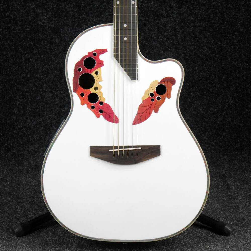 coban bowl back electro acoustic guitar white 2nd hand rich tone music. Black Bedroom Furniture Sets. Home Design Ideas