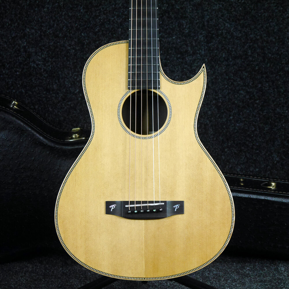 Terry Pack PLRS Parlour Acoustic Guitar - Natural w/Hard Case - 2nd Hand