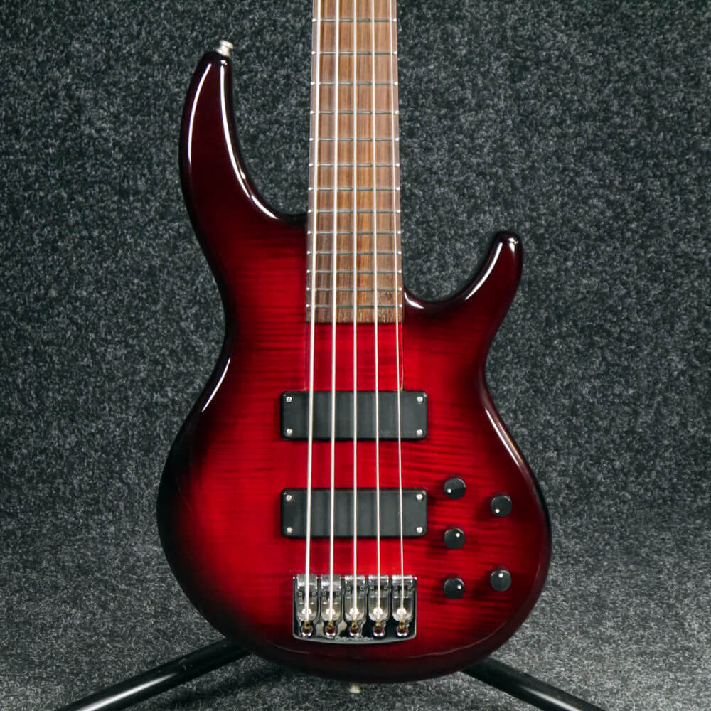 Overwater Aspiration Deluxe 5-String Bass Guitar - Trans Red - 2nd Hand