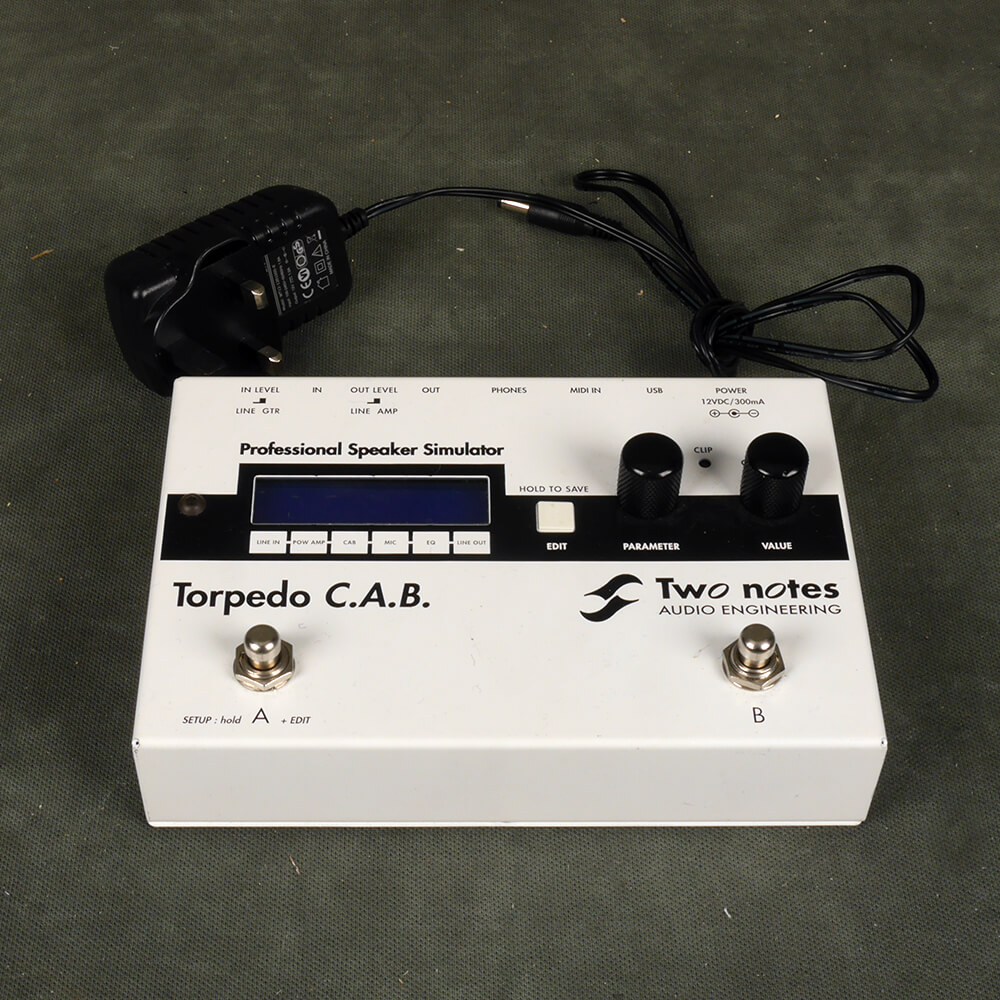 Two Note Torpedo C.A.B. Speaker-Cabinet Simulator Pedal - 2nd Hand