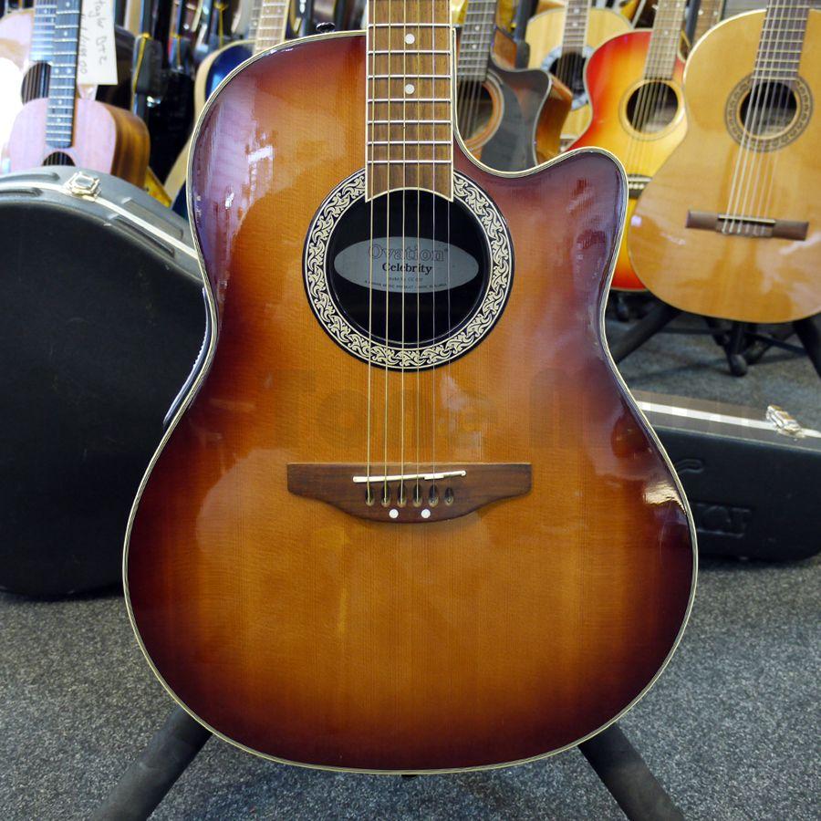 Ovation CE44-5 Acoustic-Electric Guitar, Black - amazon.com