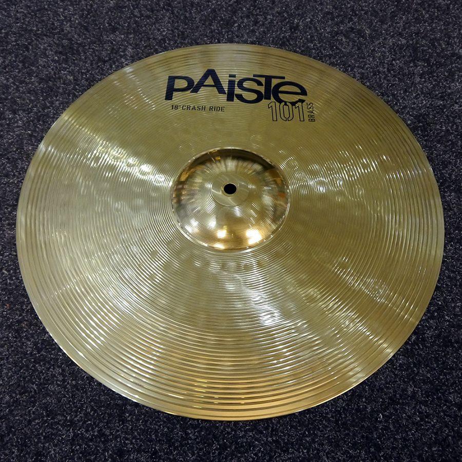 Paiste 101 Brass 18 Inch Crash/Ride Cymbal - 2nd Hand