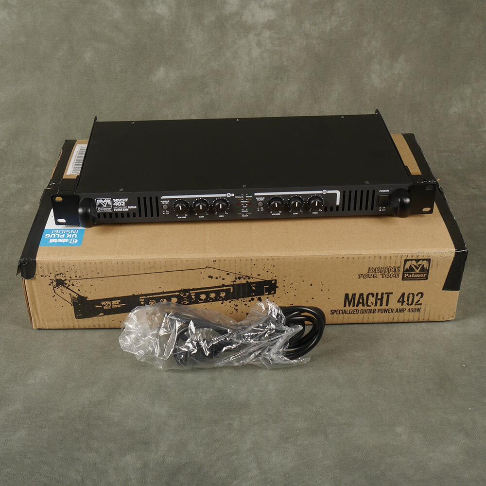Palmer Macht 402 Rack Power Amp w/Box & PSU - 2nd Hand