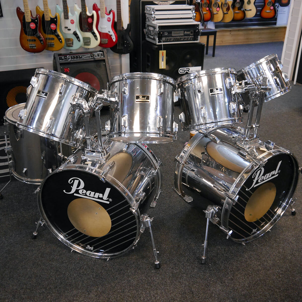 Pearl Export Shell Pack - Chrome - 2nd Hand **COLLECTION ONLY**