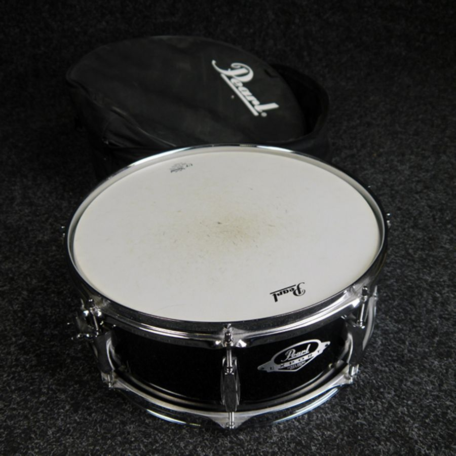pearl export 14 snare drum black w gig bag 2nd hand rich tone music. Black Bedroom Furniture Sets. Home Design Ideas