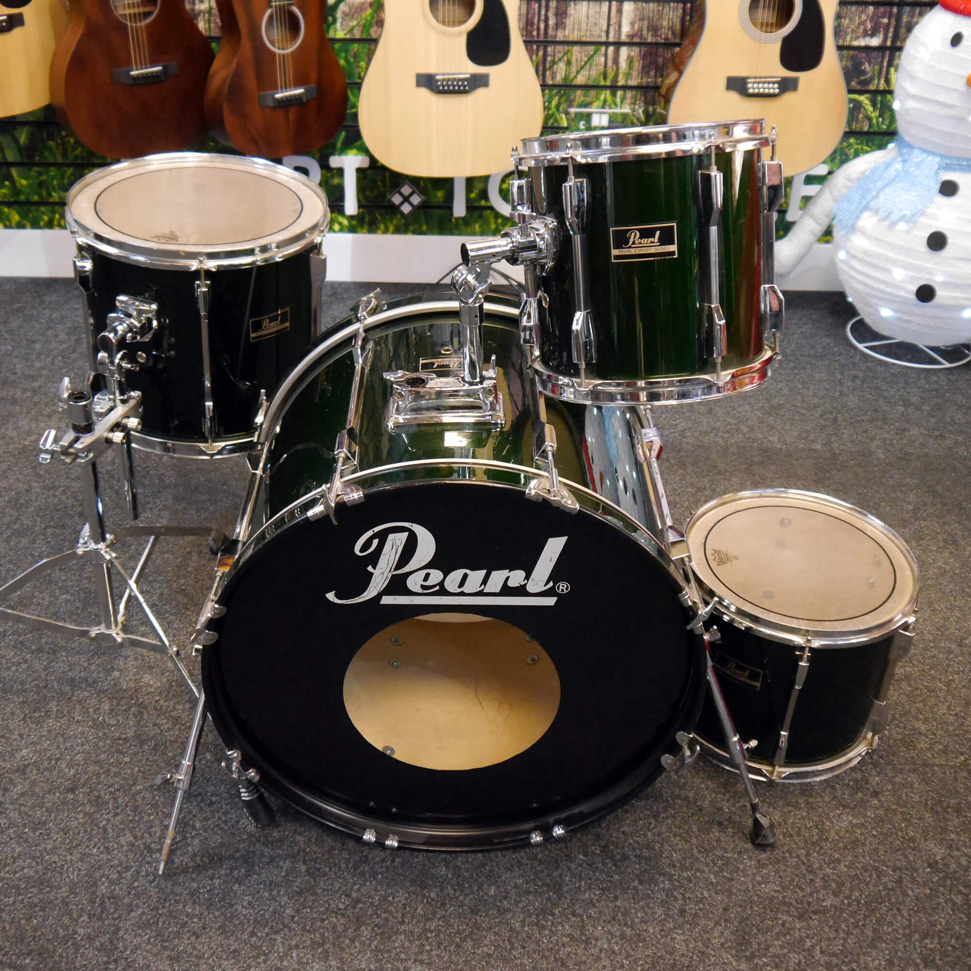 Pearl Export Drum Shell Pack - Metallic Emerald - 2nd Hand **COLLECTION ONLY**