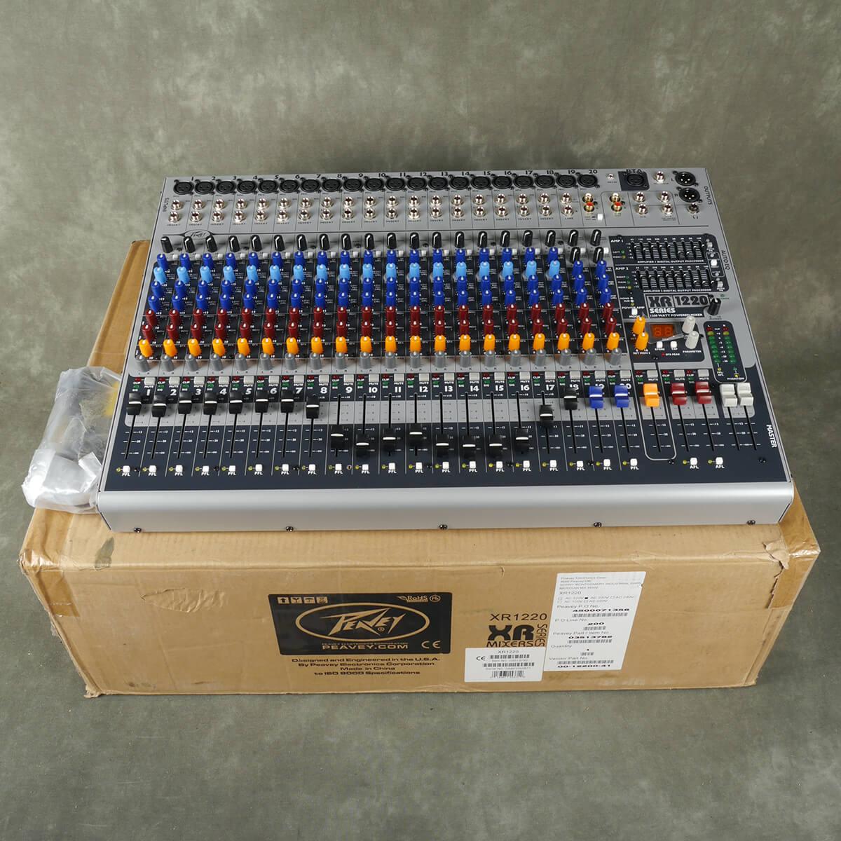 Peavey Mixer XR 1220 Powered Mixer w/Box & PSU - 2nd Hand