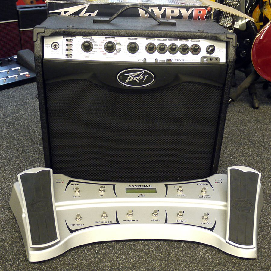 peavey vypyr vip 2 w box sanpera ii foot controller 2nd hand rich tone music. Black Bedroom Furniture Sets. Home Design Ideas