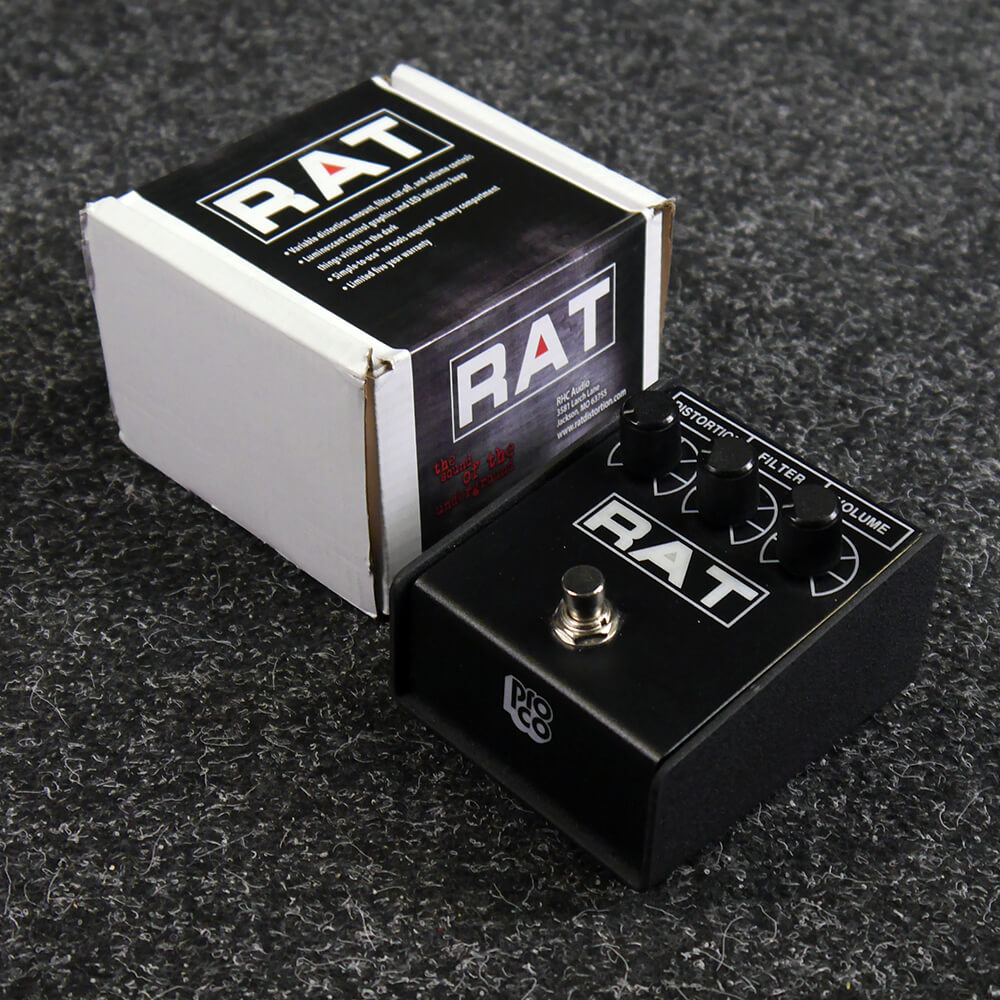 proco rat distortion fx pedal w box 2nd hand rich tone music. Black Bedroom Furniture Sets. Home Design Ideas