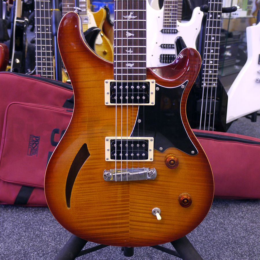 prs se custom 22 semi hollow amber sb w gig bag 2nd hand rich tone music. Black Bedroom Furniture Sets. Home Design Ideas