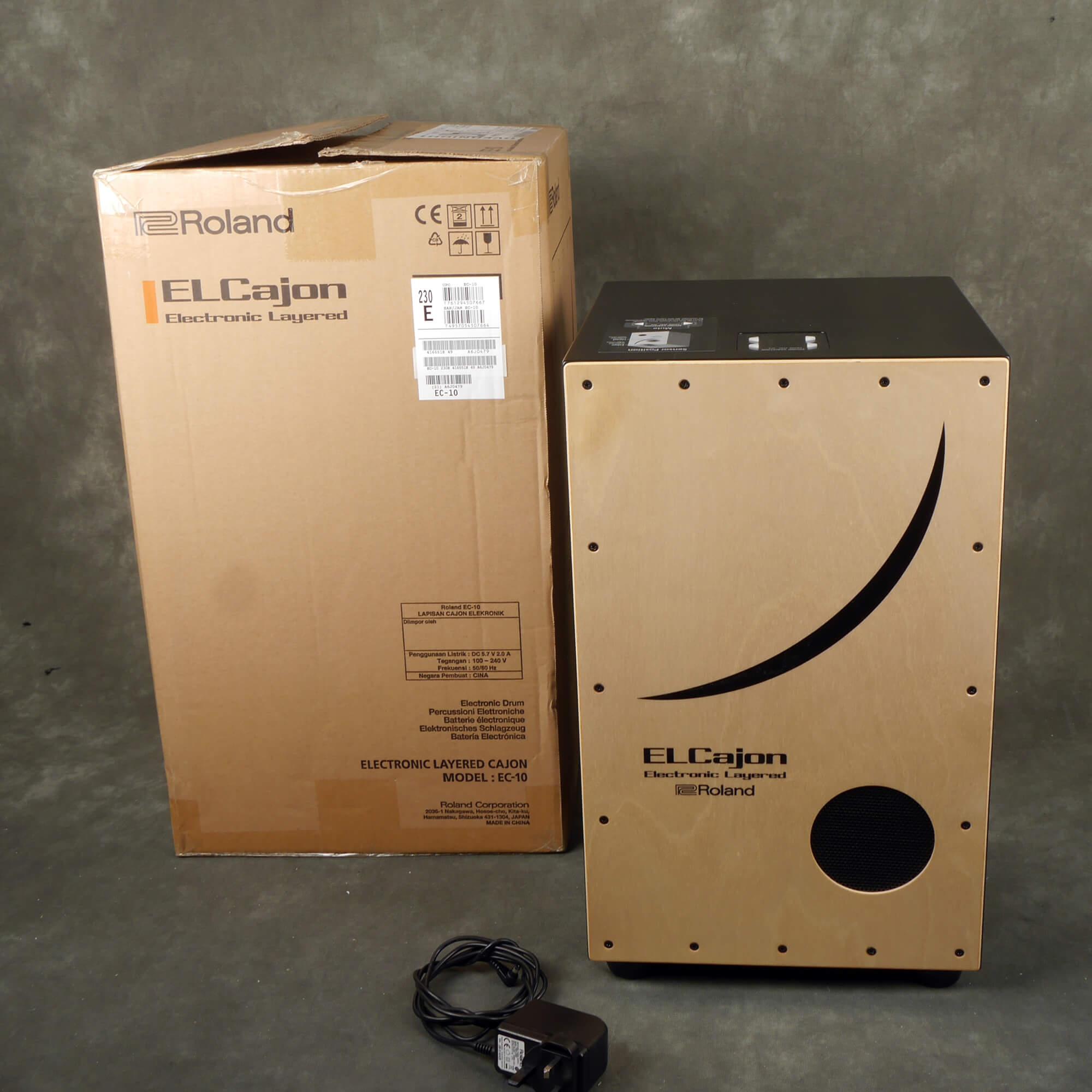 Roland EC10 Electronic Layered Cajon w/Box & PSU - 2nd Hand