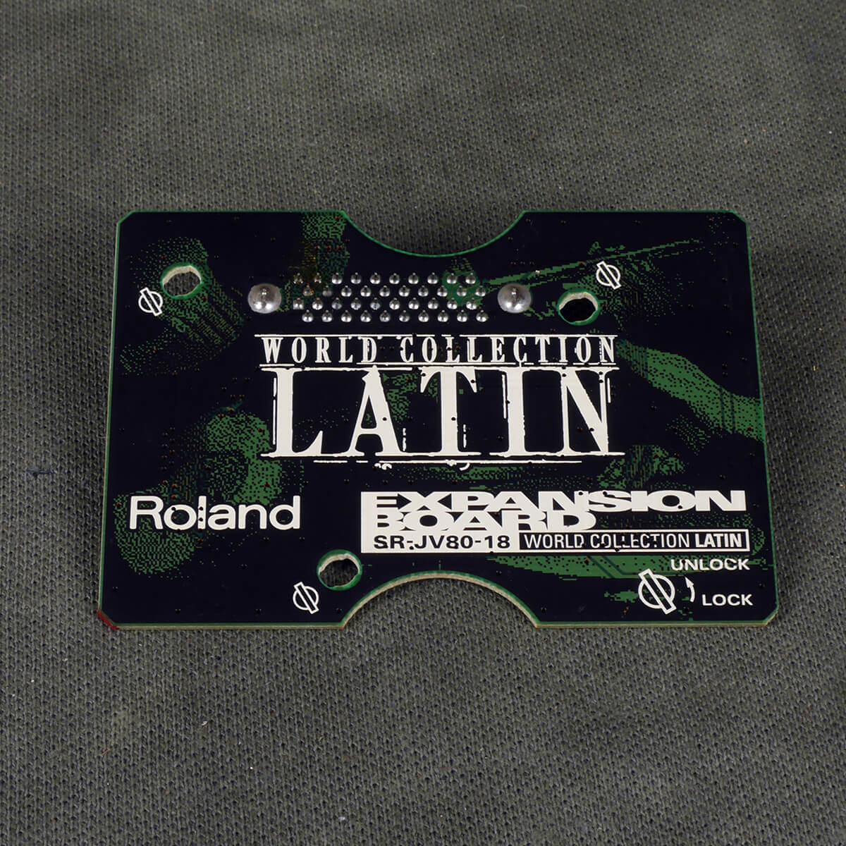 Roland SR-JV80 Expansion Board - 18 World Collection LATIN - 2nd Hand