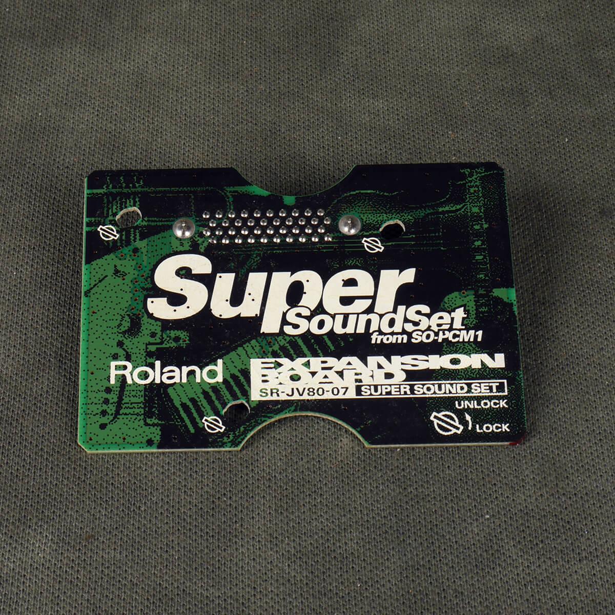 Roland SR-JV80 Expansion Board - 07 Super Sound Set - 2nd Hand