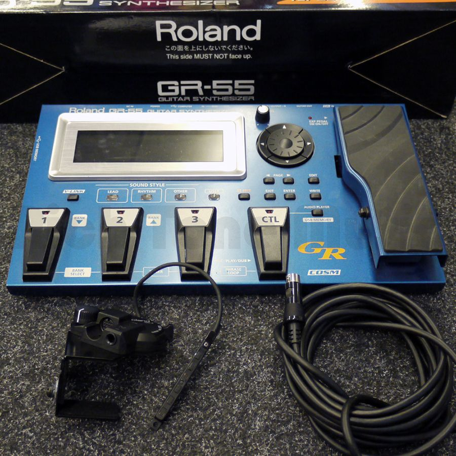roland gr55 guitar synth fx pedal w psu box 2nd hand rich tone music. Black Bedroom Furniture Sets. Home Design Ideas