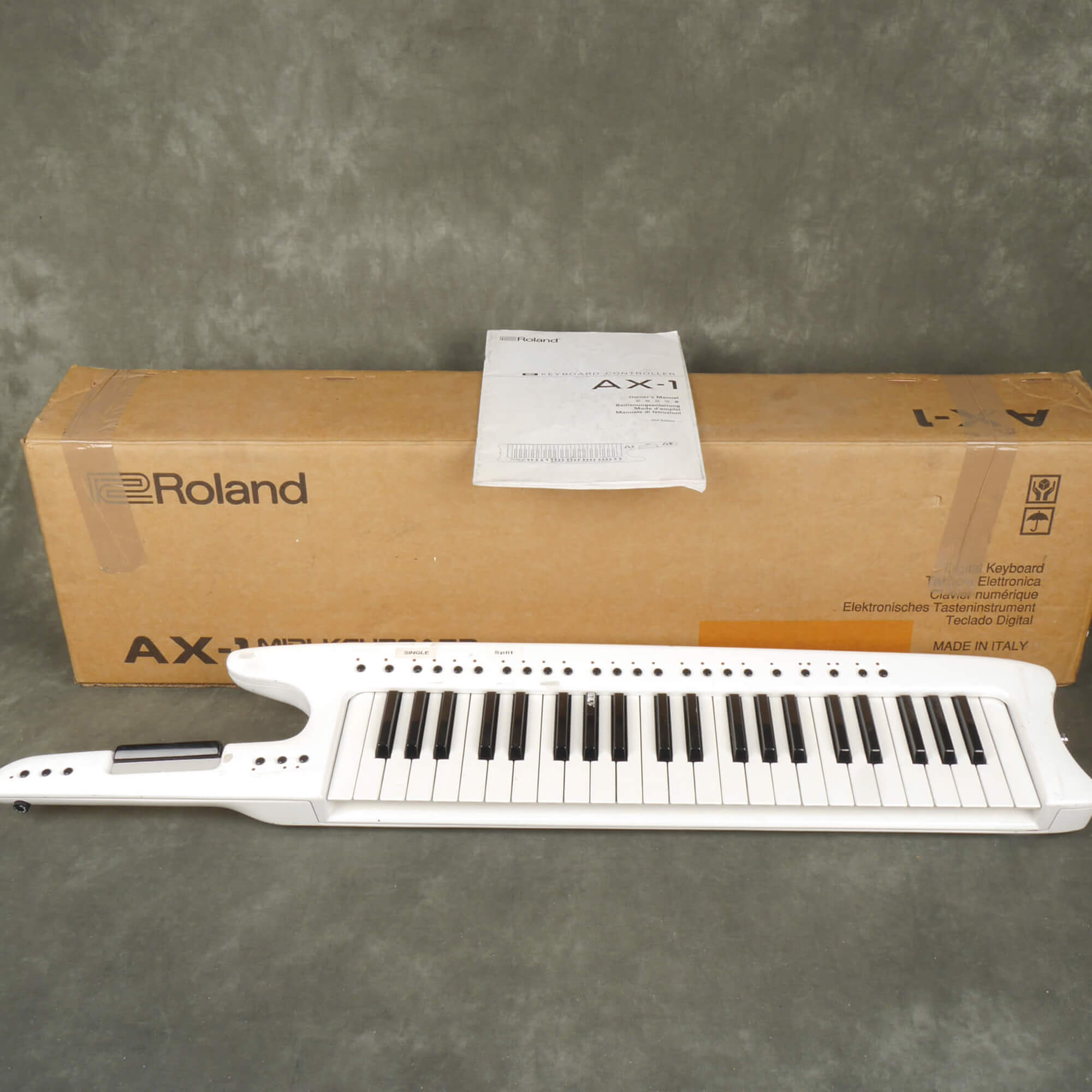Roland AX1 Midi Remote Keyboard Modified - White w/Box - 2nd Hand