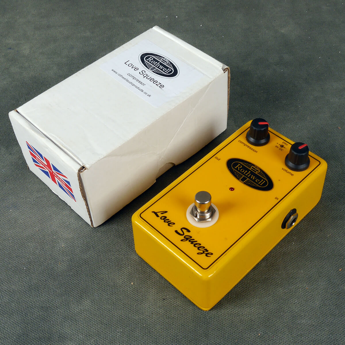 Rothwell Love Squeeze Compression FX Pedal w/Box - 2nd Hand