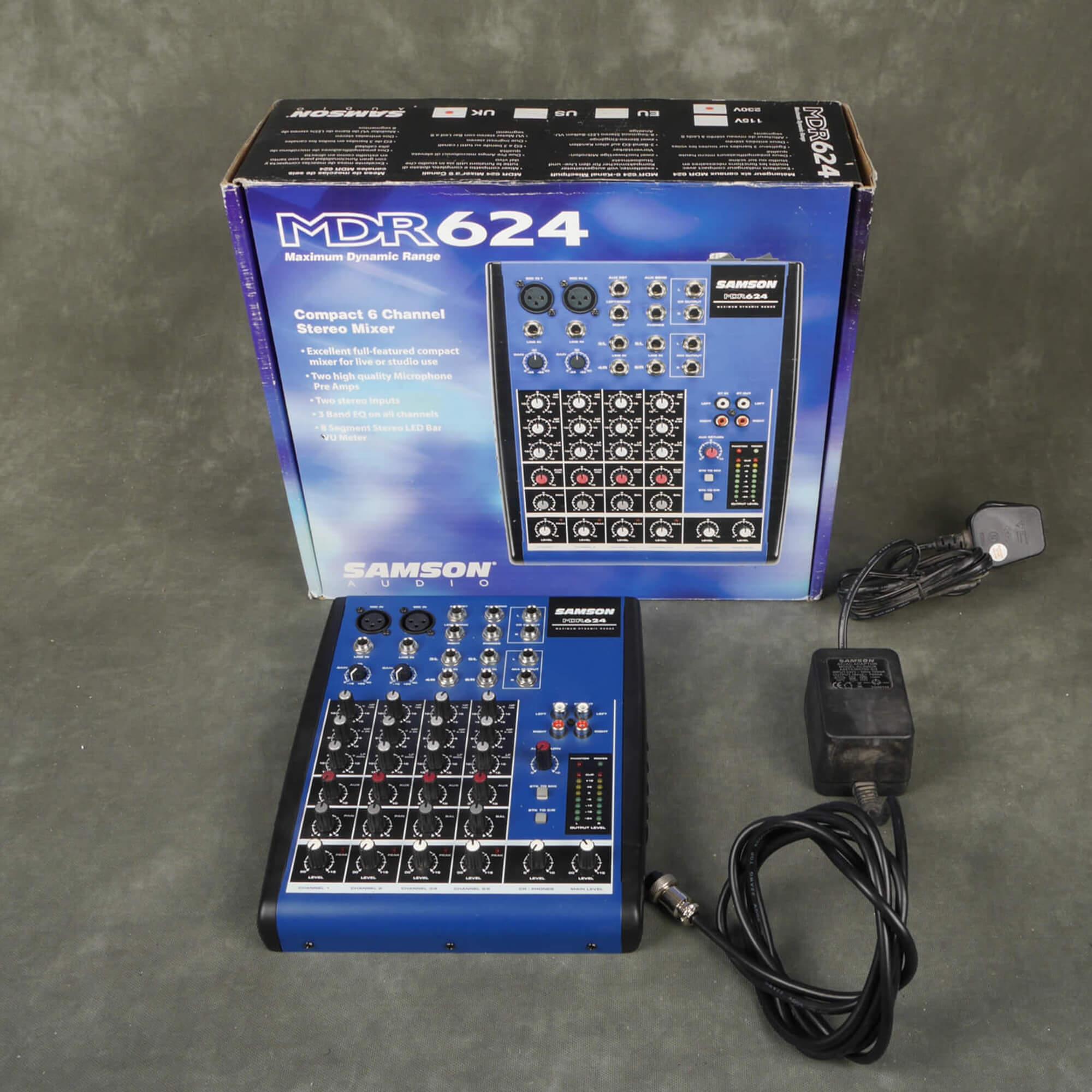 Samson MDR624 Mixer w/Box & PSU - 2nd Hand
