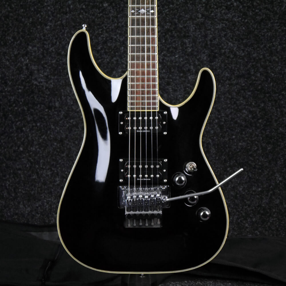 schecter c 1 fr diamond series electric guitar gloss black w bag 2nd hand rich tone music. Black Bedroom Furniture Sets. Home Design Ideas