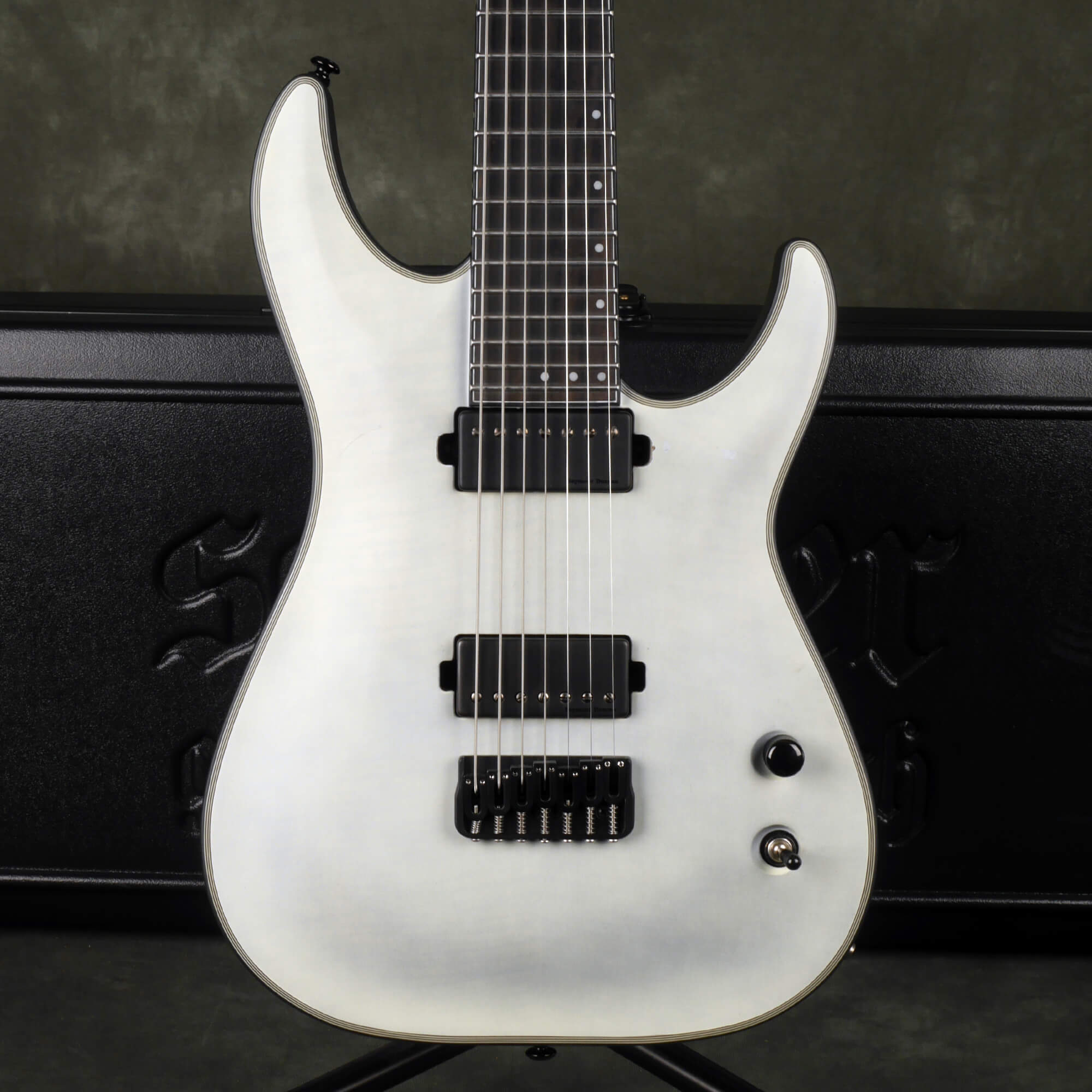 Schecter KM-7 Keith Merrow 7-String - Trans White Stain w/Hard Case - 2nd Hand