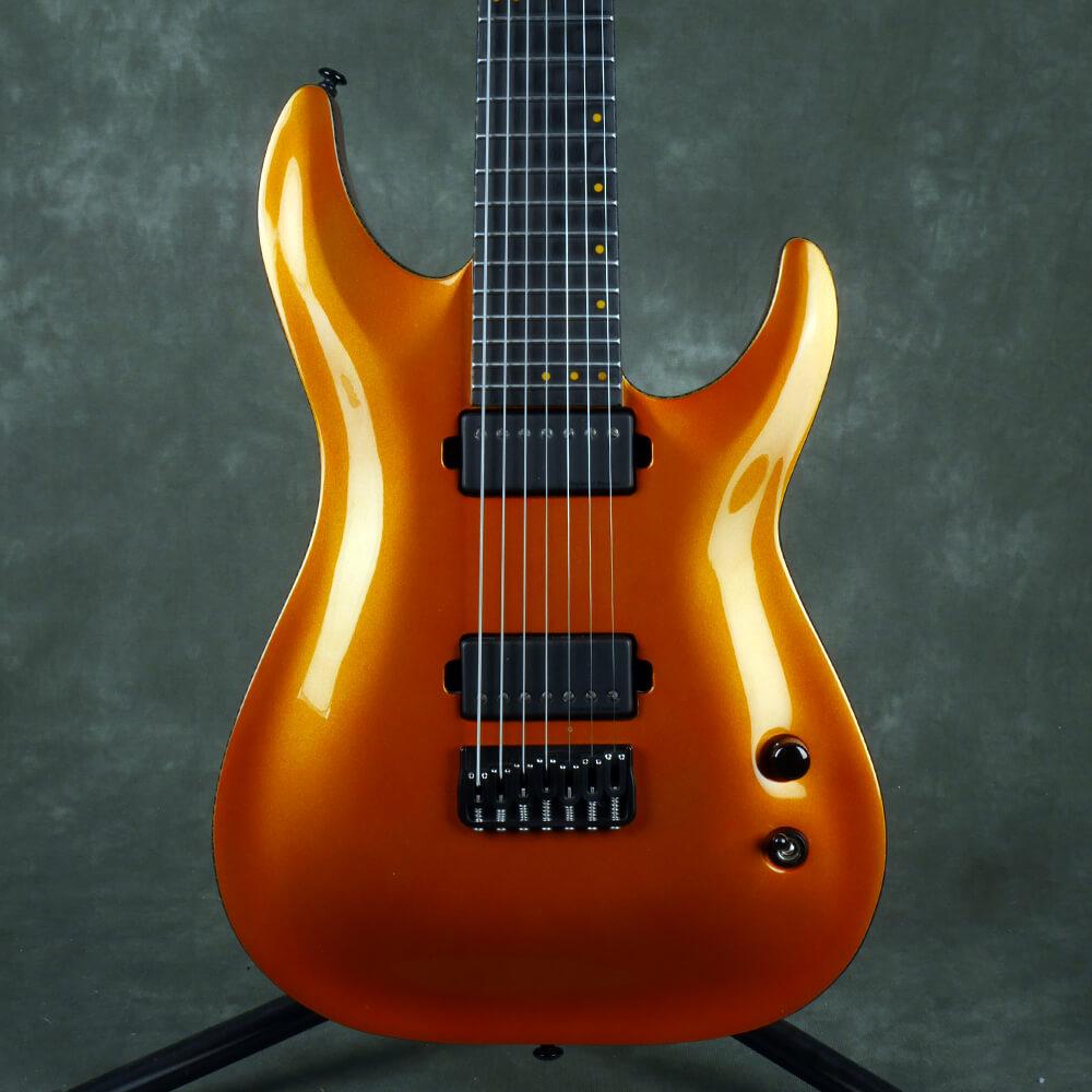 Schecter Keith Merrow KM-7 Electric Guitar, 7-String - Lambo Orange - 2nd Hand