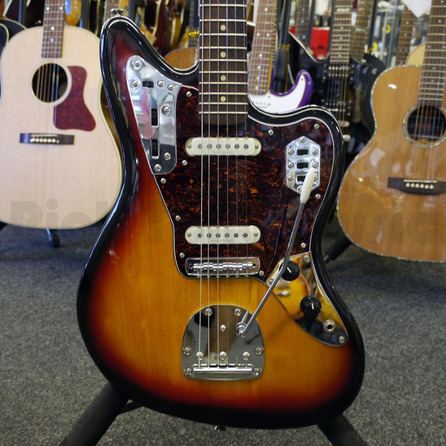 squier vintage modified jaguar sunburst guitar 2nd hand rich tone music. Black Bedroom Furniture Sets. Home Design Ideas