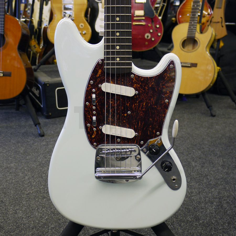 squier vintage modified mustang sonic blue guitar 2nd hand rich tone music. Black Bedroom Furniture Sets. Home Design Ideas