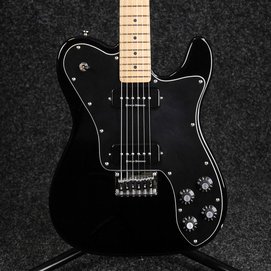 squier telecaster custom ii with p90s black 2nd hand rich tone music. Black Bedroom Furniture Sets. Home Design Ideas