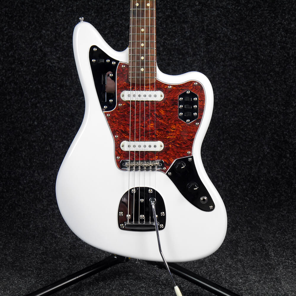 squier vintage modified jaguar olympic white 2nd hand rich tone music. Black Bedroom Furniture Sets. Home Design Ideas