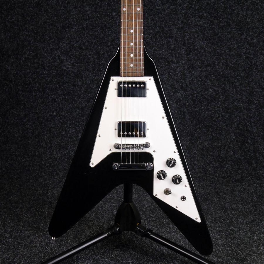 Stagg Flying V Electric Guitar - Black - 2nd Hand