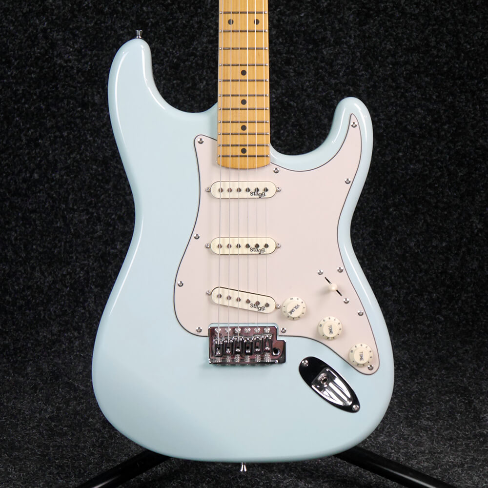 Stagg SES50M-SNB Solid Alder Body Electric Guitar - Sonic Blue - 2nd Hand