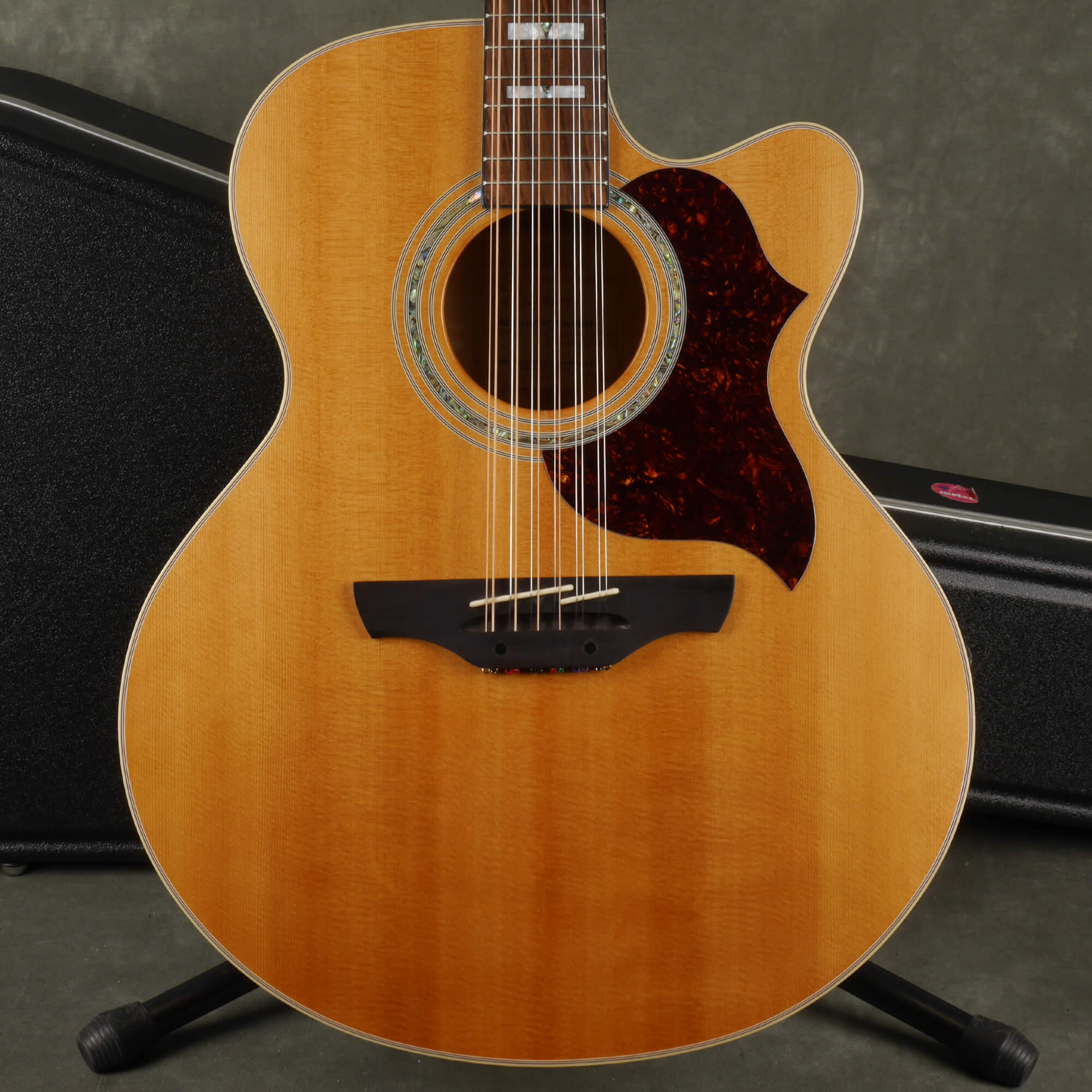 Takamine EG23SC 12 String Electro-Acoustic Guitar - Natural w/Case - 2nd Hand