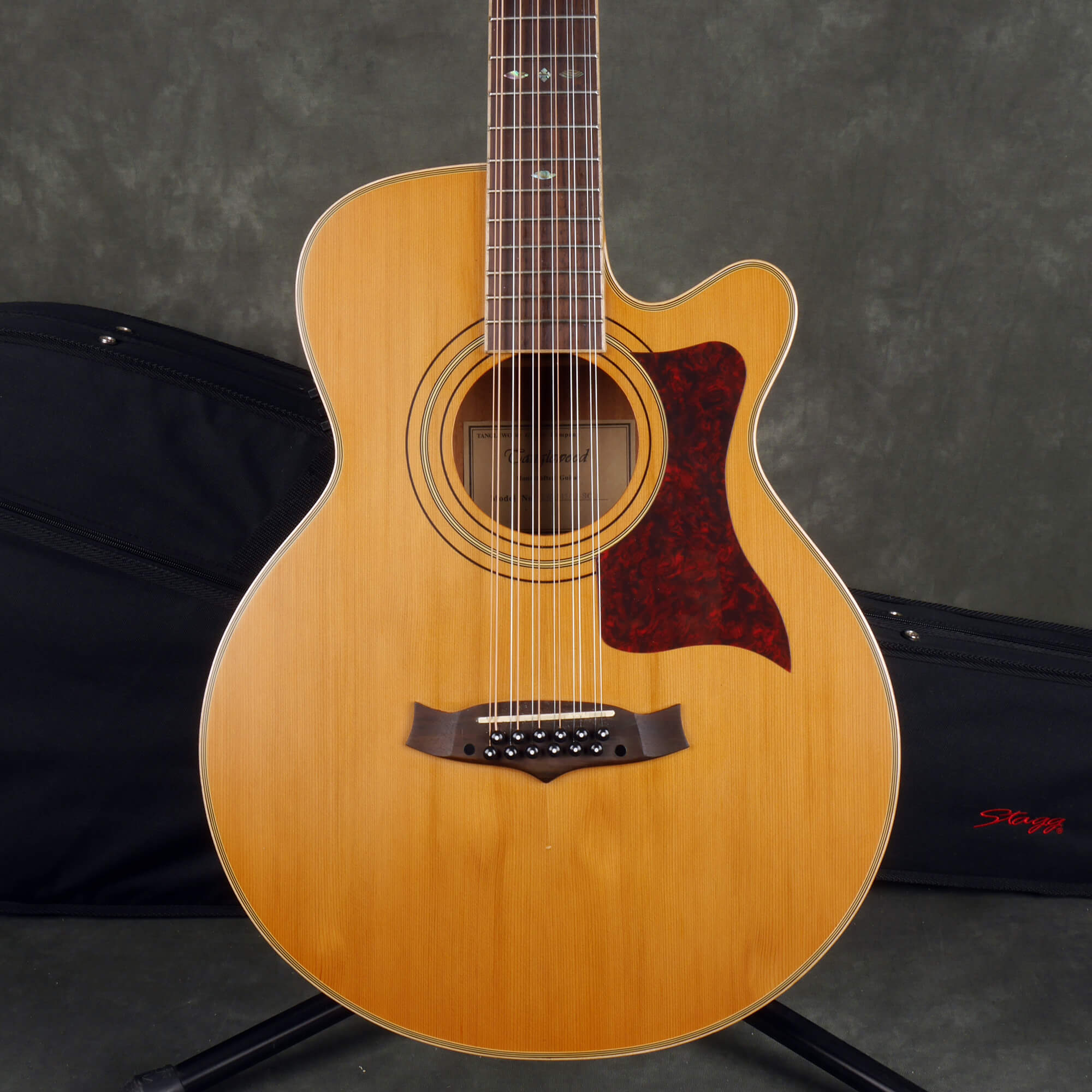Tanglewood TW145-12SC 12-Sting Acoustic Guitar - Natural w/Soft Case - 2nd Hand