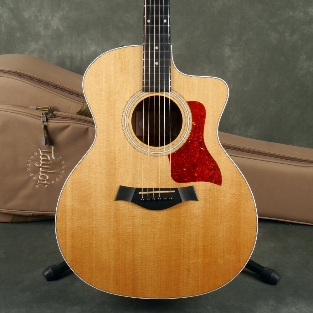 Taylor 214ce Electro-Acoustic Guitar - Natural w/Gig Bag - 2nd Hand