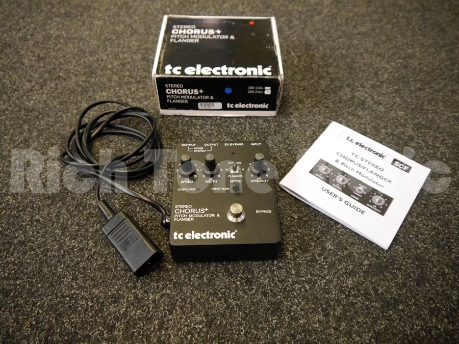 tc electronic scf stereo chorus flanger fx pedal w box 2nd hand rich tone music. Black Bedroom Furniture Sets. Home Design Ideas