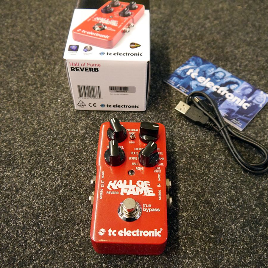 Tc Electronic Hall Of Fame Reverb Fx Pedal W Box 2nd