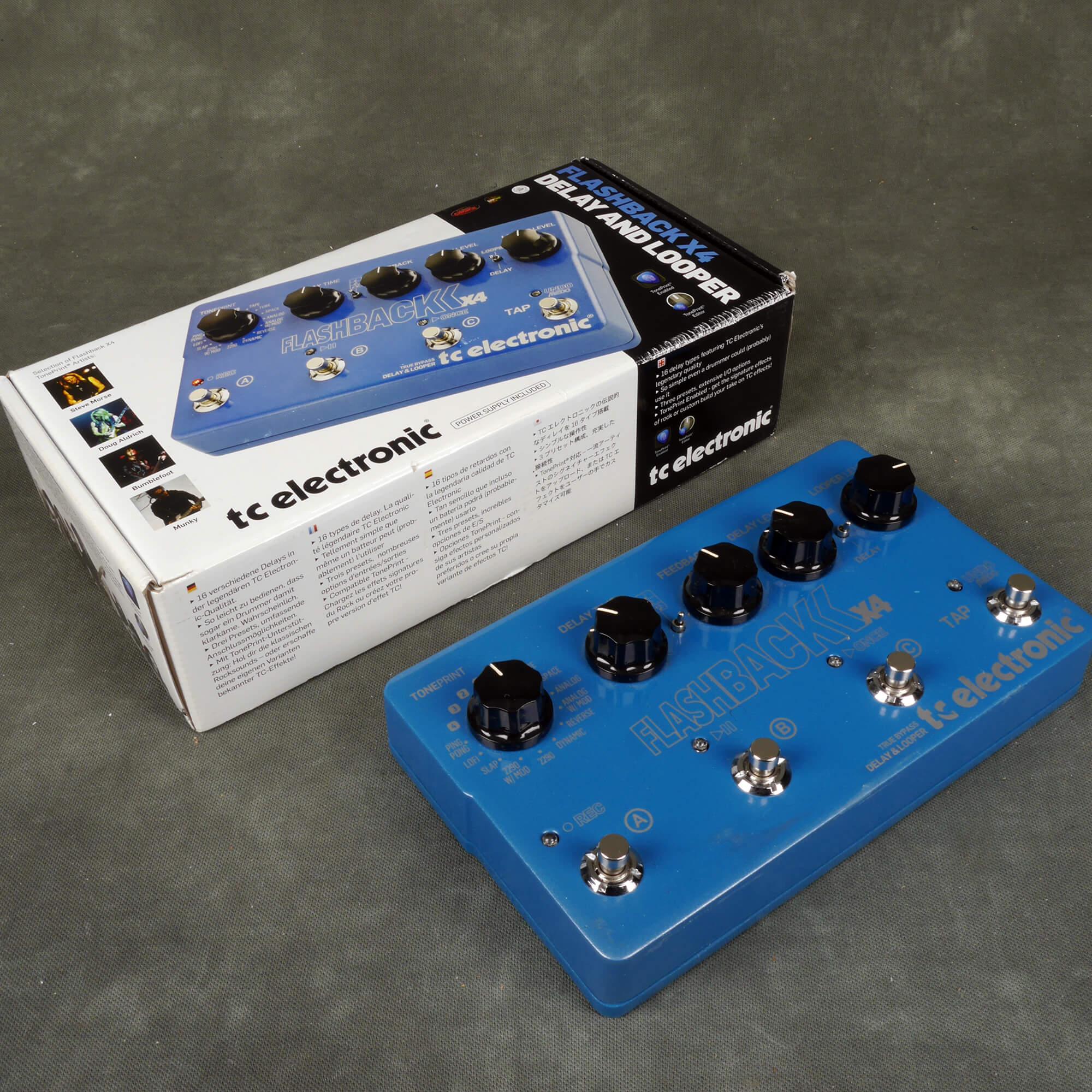TC Electronic Flashback X4 Delay FX Pedal w/Box - 2nd Hand