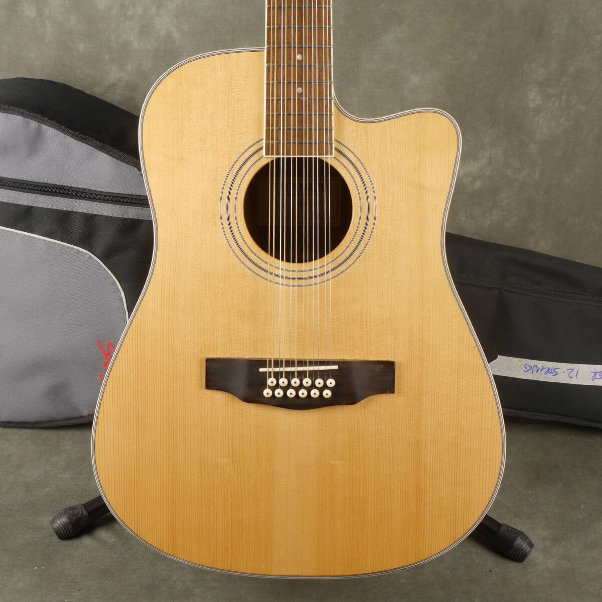Turner 40CE-12 12-String Acoustic - Natural w/Gig Bag - 2nd Hand