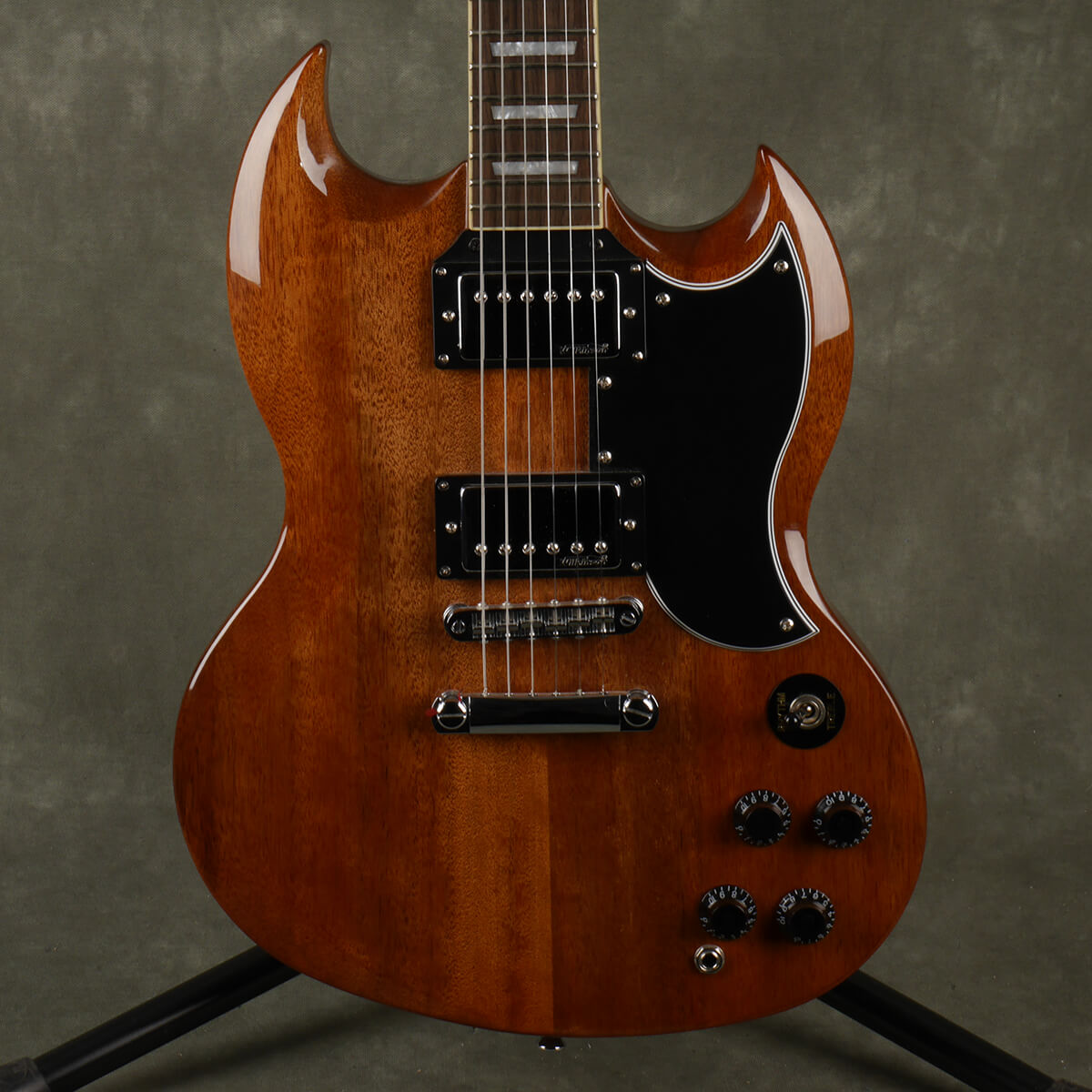 Vintage VS6 Mahogany SG Style Electric Guitar - Brown - 2nd Hand
