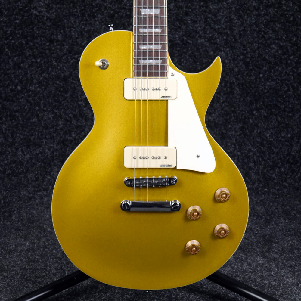 Vintage V100 Reissued Electric Guitar - Gold Top - 2nd Hand